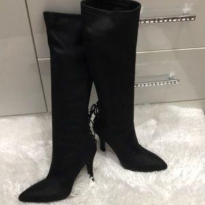 BCBG, Knee high suede boots
